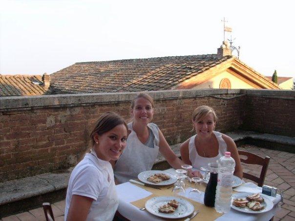 Enjoying our hard work under the Tuscan Sun