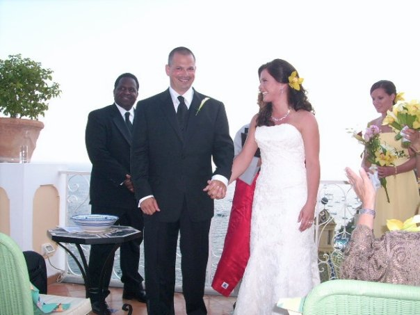 My friend Ashley and her husband Mark at their incredible wedding in Positano almost 7 years ago!