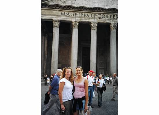 My friend Amelia and I in front of the Pantheon in 2004