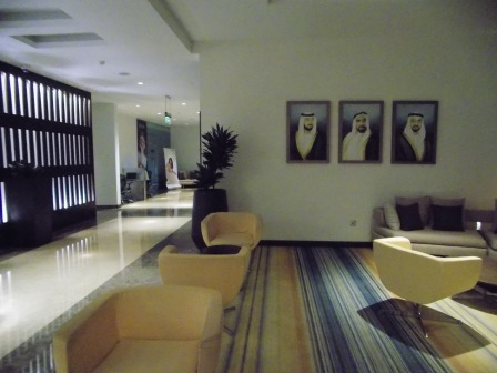 Lobby of the Holiday Inn Abu Dhabi