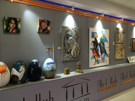 Also, the Abu Dhabi airport has an art gallery! I love it!