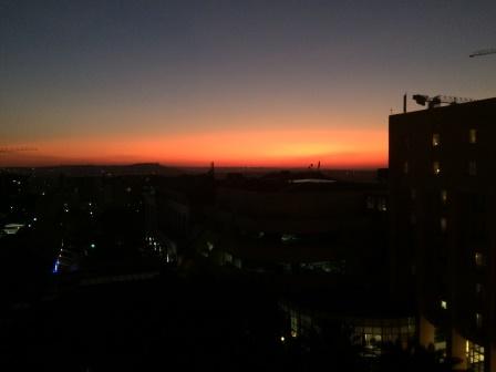 View of the South African sunset from happy hour