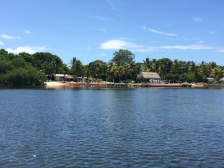 View of Rock Reef Resort from the paddle boat