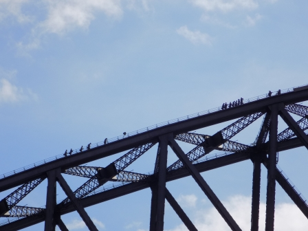 People doing the BridgeClimb