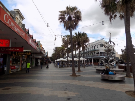 Walking down the Promenade toward the beach