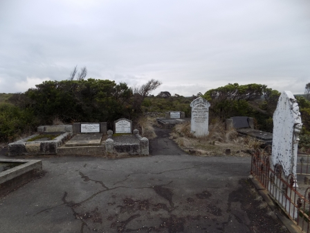 Cemetery of some of those who were killed in the shipwreck of the Loch Ard