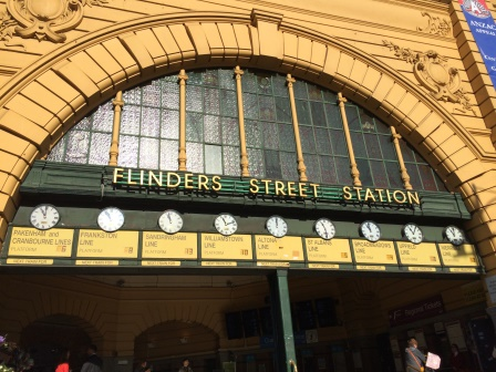 """Meet me under the clocks"" as Melbournians say"
