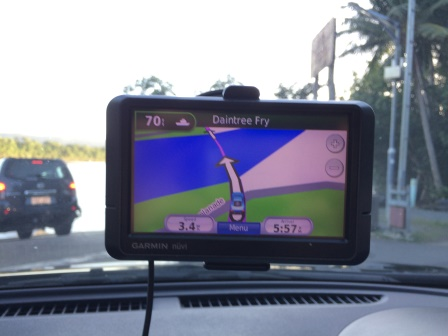 We got a kick out of our GPS knowing we were on the ferry