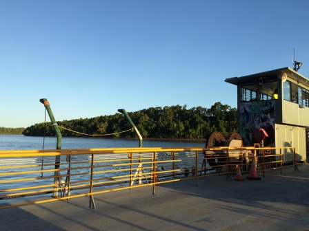 Taking the ferry across the Daintree River