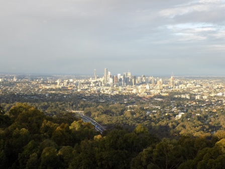 View of the skyline from the Mt. Coot-ha Lookout