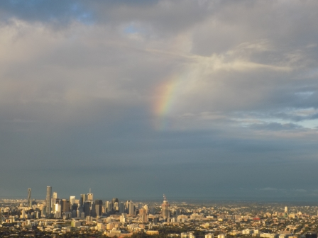 A rainbow for our last night in Australia