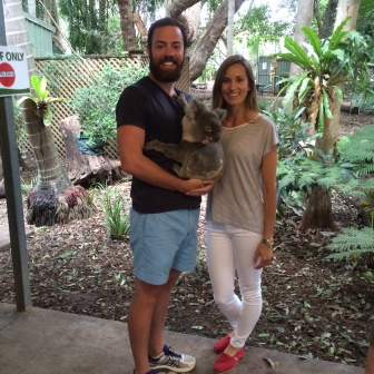 Alex and I during our koala photo op at Lone Pine Koala Sanctuary! Such a fun day!