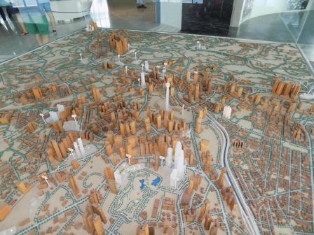 3D map of KL at the top of Petronas Towers