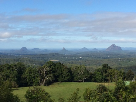 Glass House Mountains (seen from Gerrard's Lookout)