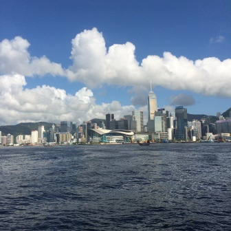 Views of the Victoria Harbour and skyline from the Star Ferry