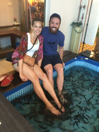 Fish pedicures at the Cute Fish Spa