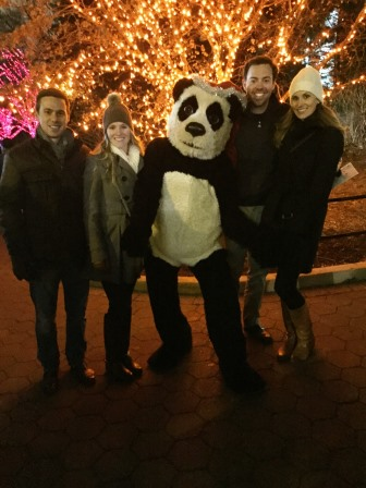 At ZooLights with Cullan and Katie