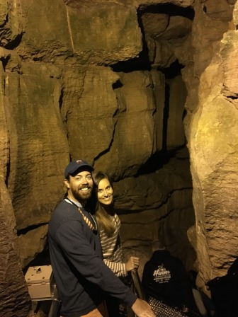 Alex and I in the cave
