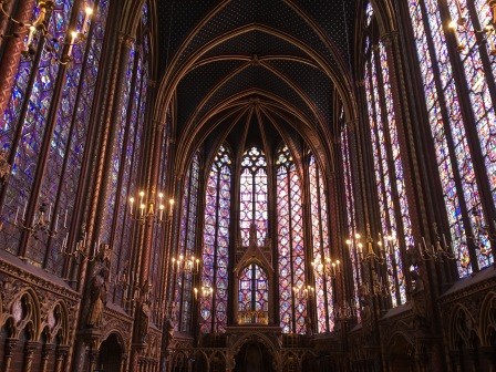 Inside the stunning Sainte-Chappelle