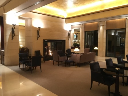 One of the seating/dining areas in the lobby, where we had tea upon our arrival