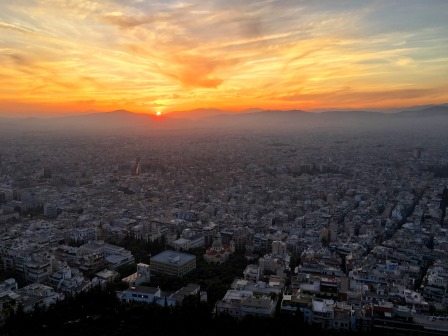 Sunset from Lycabettus Mountain