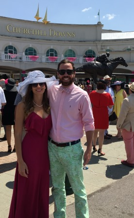 Alex and I before Kentucky Oaks
