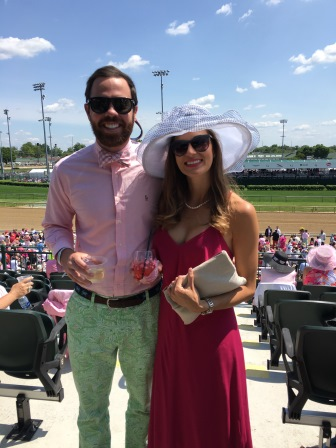 Alex and I in the Grandstand Terrace at the Kentucky Oaks