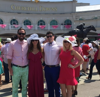 Our group before the Kentucky Oaks
