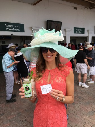 I've got my Derby essentials: a mint julep and a betting ticket!
