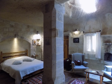 Cave hotel room