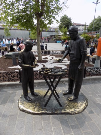 I love this statue of men making Turkish bagels (which by the way are delicious!)