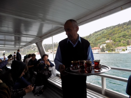 Tea being served on the ferry