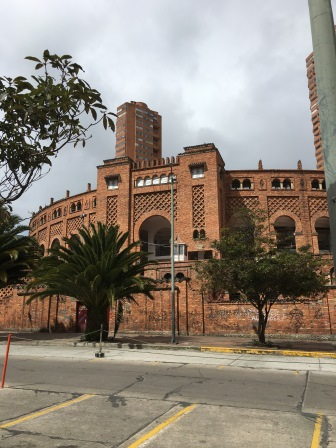A former bull fighting arena (the sport is no longer allowed in Bogota)