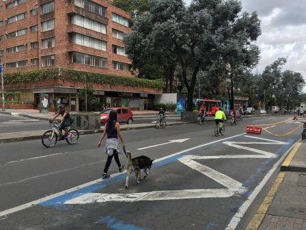 Cyclists on Ciclovia