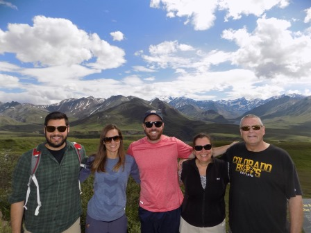 My family all together at Eielson Visitor Center