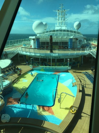 Pool and jacuzzi on the ship