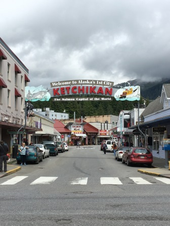 Ketchikan's downtown (in the afternoon after the weather had cleared)