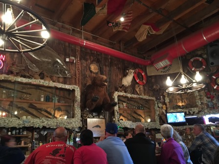 Red Dog Saloon: Wyatt Earp's pistol is below the bear