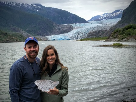 Me holding a piece of the Mendenhall Glacier on my birthday. It doesn't get much better than that!