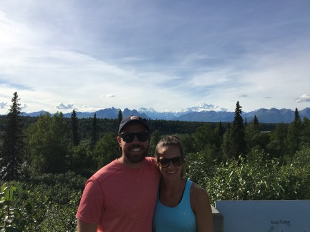 Alex and I with Mt. Denali in the background