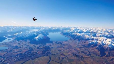 The view from the jump (photo via Skydive Wanaka)
