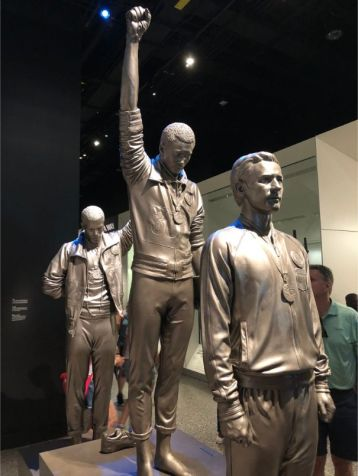 The famous 1968 Olympics Black Power salute